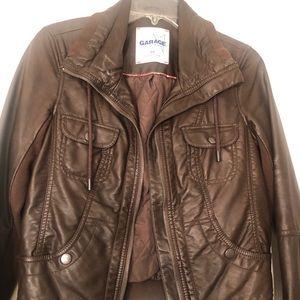 "Garage ""Leather"" coat. Size Medium. Worn once."